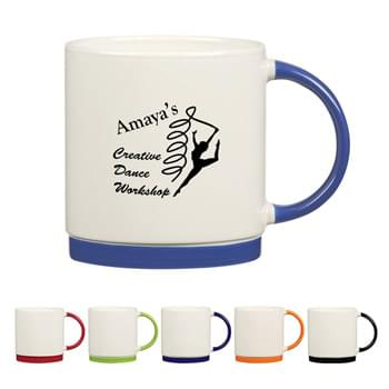 20 Oz. Bahama Mug - CLOSEOUT! Please call to confirm inventory available prior to placing your order!<br />Bistro Style Wide Body Mug  | Brightly Colored Base And Handle   | Big Bistro Handle For Comfortable Sipping  | Meets FDA Requirements  | Hand Wash Recommended