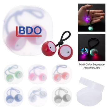 Light Up Finger Clackers In Case - CLOSEOUT! Please call to confirm inventory available prior to placing your order!<br />Protective Plastic Travel Case | Bop, Clack, Knock, Play or Roll | Multi-Color Sequence Flashing Lights | Slide Switch To Turn On/Off | Perfect For Reducing Stress And Boredom | Encourages Focus And Self-Soothing For Users With Anxiety, Attention Disorders And More | Fun For All Ages (6+) | Button Cell Batteries Included