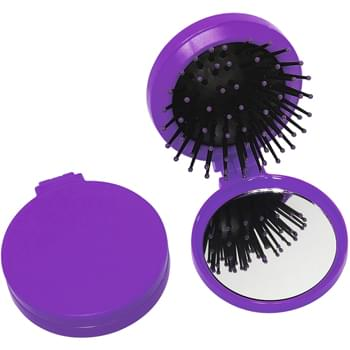 2 In 1 Kit - High Impact Plastic With Shatter-Resistant, High Quality Mirror | Hair Brush