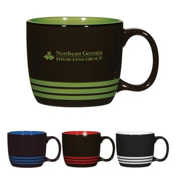 14 Oz. Bailey Radiate Stoneware Mug - CLOSEOUT! Please call to confirm inventory available prior to placing your order!<br />Bistro Style Wide Body Mug | Meets FDA Requirements | Hand Wash Recommended | Not Recommended for Commercial Use