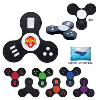 Multi-Function Fun Spinner - CLOSEOUT! Please call to confirm inventory available prior to placing your order!<br />Flip, Click, Push, Spin And Roll | Spin Between Thumb And Middle Finger | Perfect For Reducing Stress And Boredom | Encourages Focus And Self-Soothing For Users With Anxiety, Attention Disorders And More | Fun For All Ages (5+)