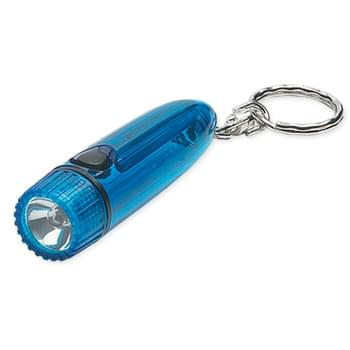 Cylinder Light/Key Chain - 1 AAA Battery Included | Swivel Key Chain Attachment | Push Button To Turn On Light
