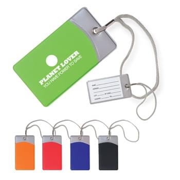 Mod Luggage Tag - Vinyl Material | Durable Nylon Strap | ID Card