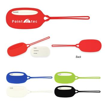 Silicone Luggage Tag - Soft Touch Material | Loop And Spaghetti Strap Closure | ID Card