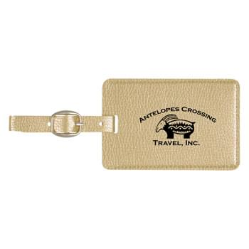 Metallic Luggage Tag - Made Of Metallic Polyurethane | Soft Touch Luggage Tag With Adjustable Strap | ID Card