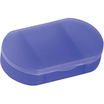 Oval Shape Pill Holder - 3 Separate Compartments | Meets FDA Requirements