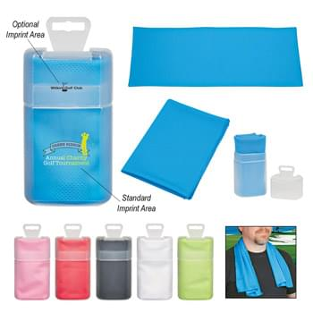 "Sport Towel In Plastic Case - Made Of Soft PVA Material With A Mesh-Like Construction | Comes In A Clear Frosted Plastic Case For Easy And Convenient Storage | Towel Size Is Approximately 12"" W x 32"" L 