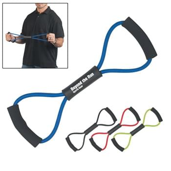 Exercise Band - Easy To Store In A Backpack, Drawer, Etc. For Workouts Any Time, Any Place | Stretchable Latex Material With EVA Foam Handles | Great For Company Wellness Programs, Gyms, Weight Loss Clinics, Etc.
