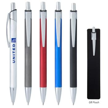 Elmwood Pen - Plunger Action | Aluminum Pen with Brushed Finish