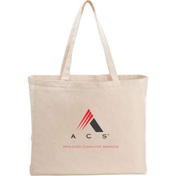 "Classic Cotton All-Purpose Convention Tote - Clean design gives this tote large imprint areas and is a great option for meetings, conventions and tradeshows. Also a perfect alternative to plastic bags. Open main compartment. 11"" drop handle height."