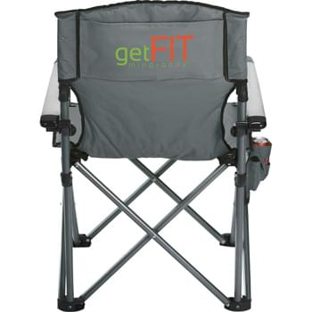High Sierra® Deluxe Camping Chair - Ideal for a long day on the sidelines, this deluxe model will keep you comfortable and looking sporty. Durable metal armrests. Side pouch provides storage for essentials. Folds into a High Sierra® carrying case with shoulder strap.