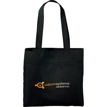 "Excel Sport Meeting Tote - Perfect budget tote style for tradeshows, conventions, and business meetings. Open main compartment. Slim design. 12"" handle drop height."