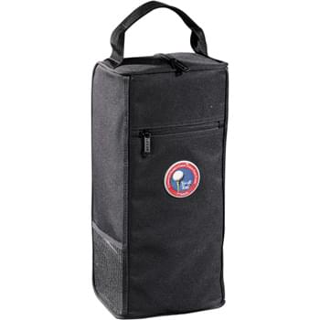 Northwest Shoe Bag - CLOSEOUT! Please call to confirm inventory available prior to placing your order!<br />Zippered main compartment with padding and vents. Holds up to U.S. men's size 13 shoes. Top grab handle. Zippered exterior pocket.
