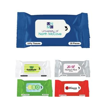 Tissue Packet - Contains 20 Tissues | Fits In Your Pocket Or Purse