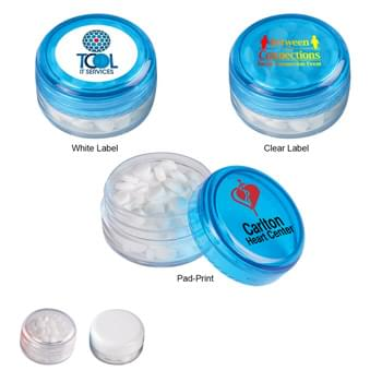 Peppermints In Circle Case - Meets FDA Requirements | Sugar-Free Peppermints | Fits In Your Pocket, Purse Or Briefcase | Contains Approximately 100 Mints | Twist Top Container