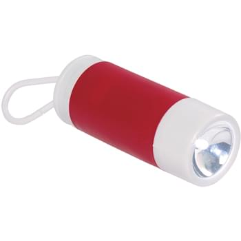 Dog Bag Dispenser With Flashlight - CLOSEOUT! Please call to confirm inventory available prior to placing your order!<br />Extra Bright White LED Light | Twist Action Turns On/Off   | Refillable Barrel Holds 25 Disposable Bags   | Attaches To Leash, Belt Loop, Etc.   | Button Cell Batteries Included