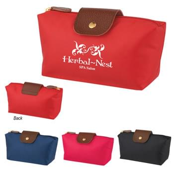 Cosmetic Vanity Bag - Made Of 230D Polyester | Zippered Main Compartment | Spot Clean/Air Dry