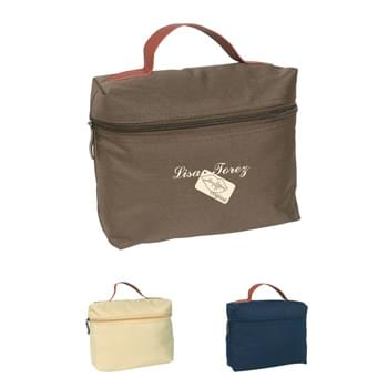 Cosmo Bag - Made Of 300D Polyester | Great For Traveling | Attractive Case With Zipper And Leatherette Handle