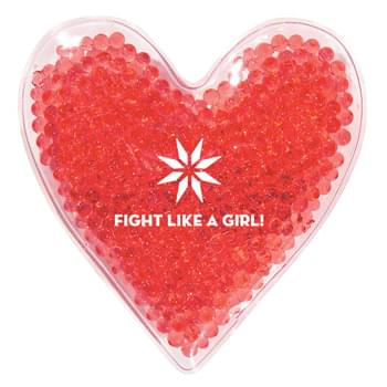 Heart Shape Gel Beads Hot/Cold Pack - Therapeutic Gel Pack Applies Heat Or Cold To Sore Muscles | Microwave And Freezer Safe | Reusable And Non-Toxic | Instructions Printed On Reverse Side