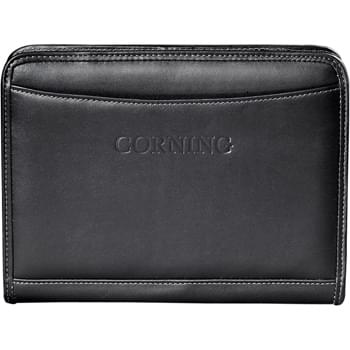 "Millennium Leather Jr. Writing Pad - Interior organizer includes a business card pocket and document pocket. Includes 5"" x 8"" writing pad. Includes 1-piece gift box."