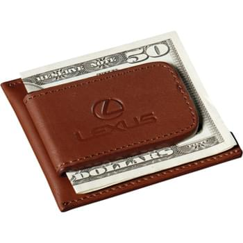Cutter & Buck® Money Clip Card Case - Magnetic money clip secures loose bills. Pocket holds credit cards and notes. *Note: Due to the fact that this product contains a magnet, we recommend not using it near electronic devices with memory storage.