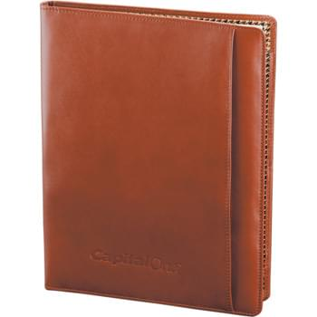 "Cutter & Buck® Leather Writing Pad - Interior organizer includes business card pockets and file folder. Pen loop. Signature Cutter & Buck® lining. Includes Cutter & Buck® 8.5"" x 11"" writing pad. Includes 2-piece Cutter & Buck® gift box."