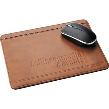 Cutter & Buck® Legacy Mouse Pad - Finely crafted with Legacy leather and classic Cutter & Buck detailing. This mouse pad adds elegance to any desk. The non-skid base keeps the mouse pad in place on any surface.