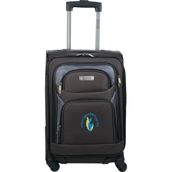 "Kenneth Cole® 20"" 4 wheel Expandable Upright - Pack clothing and essentials for an overnight trip or a weekend getaway inside this upright case from Kenneth Cole®. The lightweight 20"" 4-wheel expandable upright case is made from lightweight and durable polyester fabric and features a sturdy design with a locking retractable handle system, smooth rolling wheels, and top and side grab handles for easy lifting. This upright has an expandable main compartment with a fully lined interior that includes tie-down straps to hold garments in place and zipper pock"