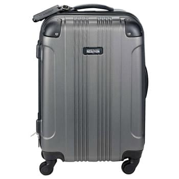 "Kenneth Cole Out of Bounds 20"" Upright - Kenneth Cole 4 wheel spinner carry-on hardsided luggage helps protect your items. Its stylish and innovative design is constructed with lightweight and durable ABS exterior with molded corner reinforcement for maximum impact resistance. Roomy fully lined interior features garment restraints and a zippered pocket. Side and top grab handles. Side bezels allow upright to stand on its side. The four wheel construction allows uprights to be rolled in any direction. Retractable locking handle system. Antique nick"