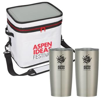 Himalayan Outdoor Kit - Kit Includes Himalayan Performance Cooler Bag and 2 Pieces of 20 Oz. Himalayan Tumbler | Pricing Includes a 1-Color Imprint in 1-Location on Each Item