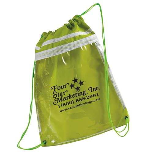 Always Clear Drawstring Duffel Tote Bags