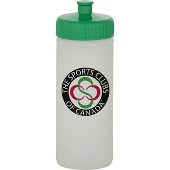 16-oz. Sports Bottle - Natural/White - 16-ounce, Natural or White sports bottle with your choice of lid: push-pull, super sipper or straw with tethered-tip. Must specify bottle color, as well as lid type & color.  Lid and bottle colors may vary/may not match.  Contrasting colors recommended.  Offset decoration also available.  Contact factory or visit website for further details. Made in USA. BPA-Free.