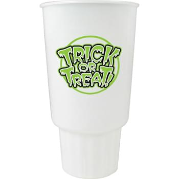 32-oz. Glow Stadium CarCup - 32-ounce Glow-In-The-Dark stadium cup with tapered bottom design. For best glow effect, charge under direct light.  Made in USA. BPA-Free.  Offset decoration also available.  Contact factory or visit website for further details.