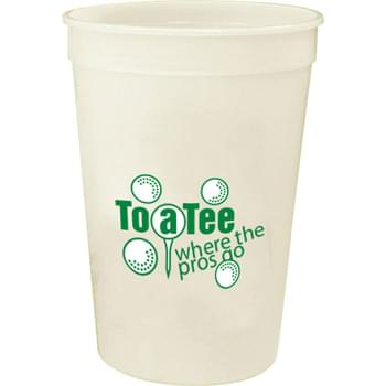 16-oz. Glow Stadium Cup - 16-ounce Glow-In-The-Dark stadium cup. For best glow effect, charge under direct light.  Made in USA. BPA-Free.  Offset decoration also available.  Contact factory or visit website for further details.