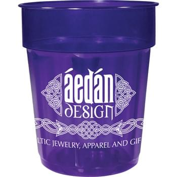 16-oz. Fluted Jewel Stadium Cup - 16-ounce translucent fluted stadium cup comes in a wide variety of colors. Made in USA.
