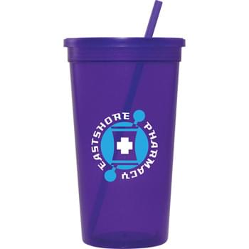 32-oz. Jewel Tumbler Cup - Our 32-ounce Jewel Tumblers include matching straws and lids and are available in 6 jewel-toned colors. Top rack dishwasher safe. Made in the USA.
