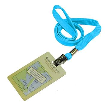 3/8 inch Flat Blank Lanyards with PVC Card