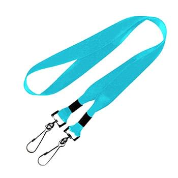 3/4 inch Double Ended Dye Sublimation Lanyards