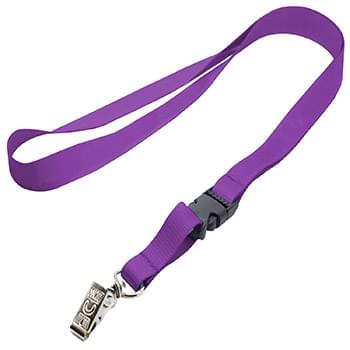 1/2 inch Polyester Full Color Lanyards w/ Buckle Release