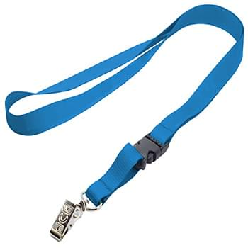 5/8 inch Polyester Full Color Lanyards w/ Buckle Release