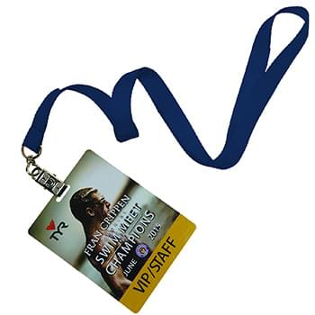 5/8 inch Polyester Lanyards w/ PVC Card