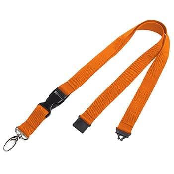 3/4 inch Polyester Lanyards w/ Buckle Release and Safety Breakaway