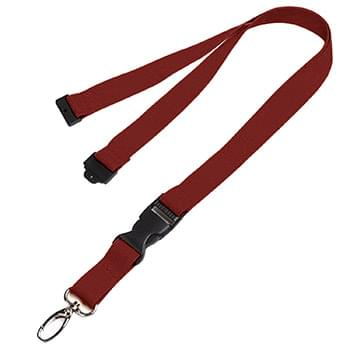 5/8 inch Polyester Lanyards w/ Buckle Release and Safety Breakaway