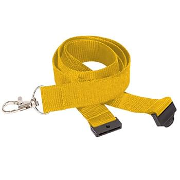 3/4 inch Polyester Lanyards w/ Safety Breakaway