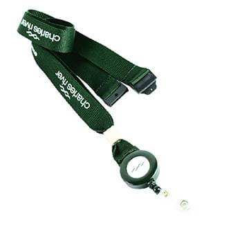 5/8 inch Polyester Lanyards w/ Retractable Reel Combo