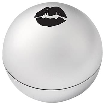 "Metallic Non-SPF Raised Lip Balm Ball - Vanilla-flavored, neutral color lip balm in shiny metallic color ball case. Twist off top lid to expose raised lip balm inside for easy application. Item Size: 1-1/2"" Diameter. Safety sealed. Meets FDA requirements. Available for shipment within United St"
