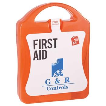 MyKitô 51-piece Deluxe First Aid Kit - CLOSEOUT! Please call to confirm inventory available prior to placing your order!<br />High-quality MyKitô 51-piece Deluxe First Aid Kit. Hard Plastic Travel Case with safety seal label. Kit Includes: 30 standard adhesive bandages, 10 medium adhesive bandages, 5 7x7-inch compresses, 4 antiseptic swabs, 1 elastic bandage, 1 pair of gloves.