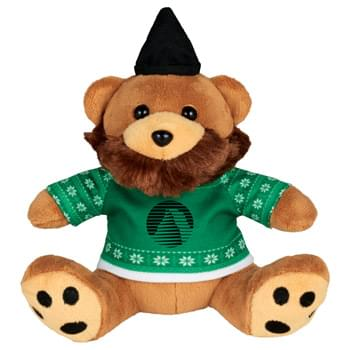"Ugly Sweater 6"" Hipster Bear - Soft, huggable plush animal includes an ugly Christmas Sweater. Perfect for the Christmas Holiday."