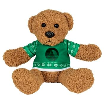 "Ugly Sweater 6"" Rag Bear - Soft, huggable plush animal includes an ugly Christmas Sweater.  Perfect for the Christmas Holiday."