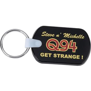 Rectangular Soft Key Tag - Rectangular soft key tag is thick and pliable. Includes metal split key ring.